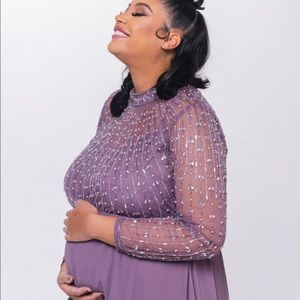 Maternity dress with crystals